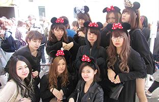東京ディズニーランドにて